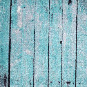 Turquoise Barn Wood Rug