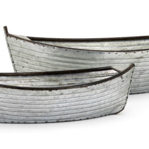 Set Of 2 Boat Planters